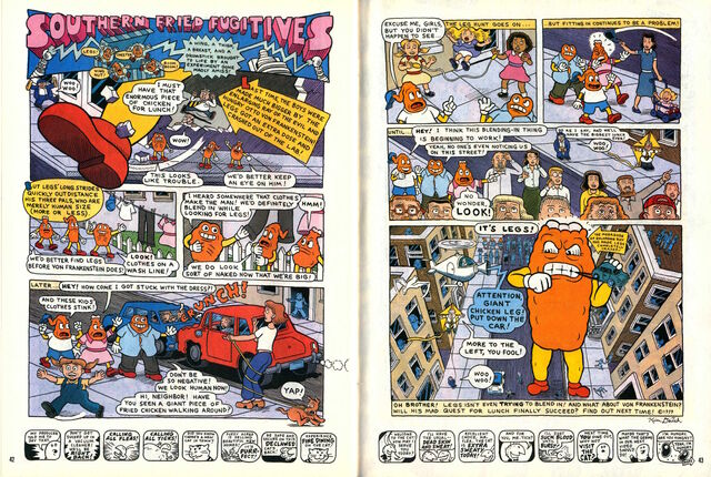 File:Nickelodeon Magazine comic Southern Fried Fugitives june july 1999.jpg