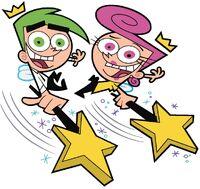 Cosmo and Wanda waving their wands