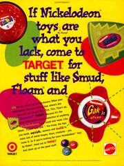 Gak Smud Floam target print ad NickMag Dec 1995