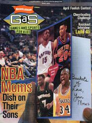Nickelodeon GAS Games and Sports cover April 2000 NBA moms