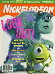 Nickelodeon Magazine cover November 2001 Monsters Inc
