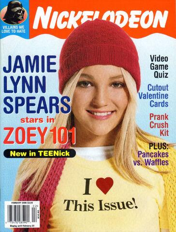 File:Nickelodeon Magazine cover February 2005 Jamie Lynn Spears Zoey 101.jpg