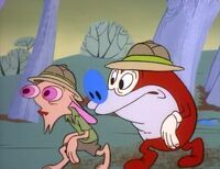 Ren and Stimpy in the jungle