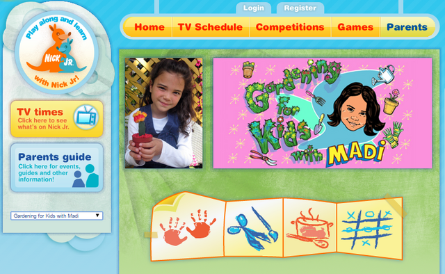 File:Nickelodeon Nick Jr. Noggin Gardening for Kids with Madi Show Page.png