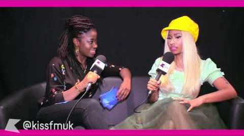 NICKI MINAJ talks to KISS FM (UK) about her Barbz, performing live and touring