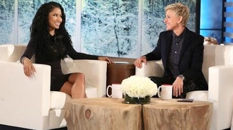 The Ellen DeGeneres Show 2014 Nicki Minaj Mocks Kim Kardashian Again