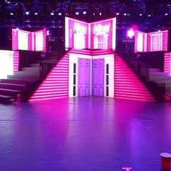 The stage for the Pink Friday Tour