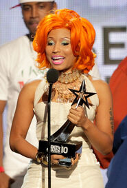 BET Awards 2010 Nicki Minaj won