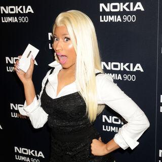 Nicki promoting the Nokia Lumia 900.