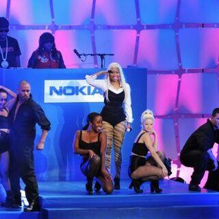 Minaj performance during concert.