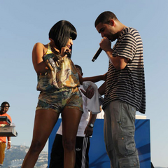 Nicki and Drake live at concert