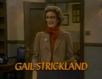 Gail Strickland as Sheila Cornith opening credits
