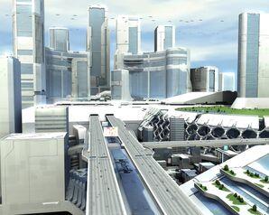 Cityscapes futuristic architecture buildings digital art 1280x1024 wallpaper www.wall321.com 93