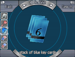 Stack of blue key cards