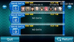 VLR Save Screen