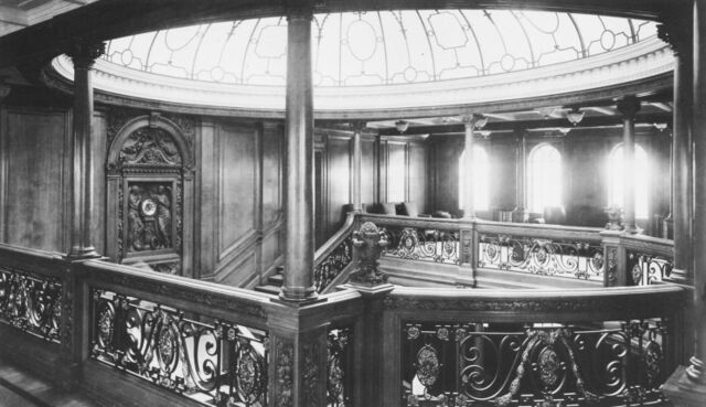 File:02 titanic 1st class staircase dome.jpg