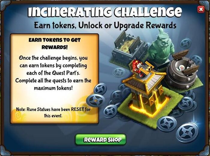 Incinerating challenge preview