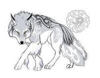 Anime wolf fullbody