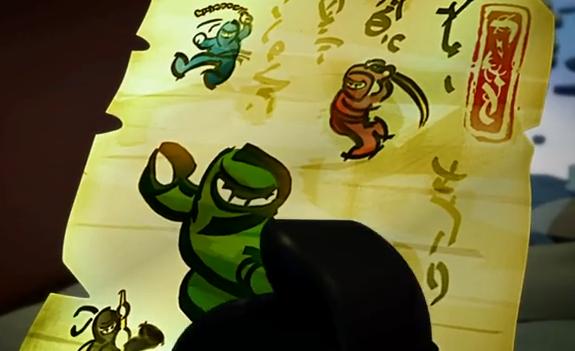 Green Ninja Scroll