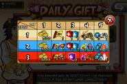 Daily Gift rewards