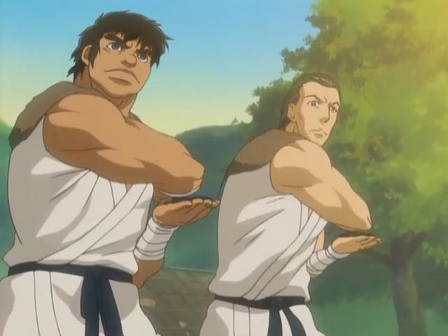 File:Taroza and Jiroza using shirukens.png