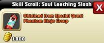 Skill Scroll Soul Leeching