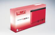 Nintendo 3DS XL red NA box art