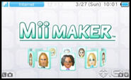Mii Maker menu