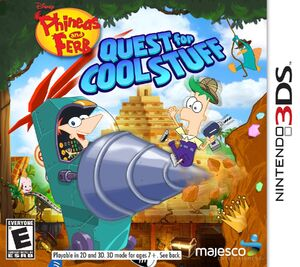 Phineas and Ferb Quest for Cool Stuff box art
