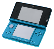 Nintendo 3DS Aqua Blue (frontview)