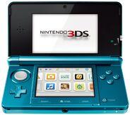 Turquoise Aqua Blue 3DS