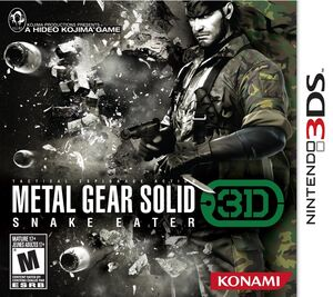 Metal Gear Solid Snake Eater 3D NA box art