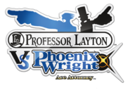 Professor Layton vs. Phoenix Wright Ace Attorney logo