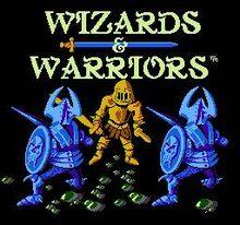 Wizards & Warriors Title Screen