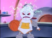 Rebound the robot angry.