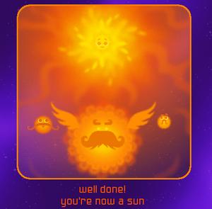 Nebula Finish Screen