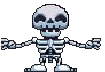 Skeleton outstreched