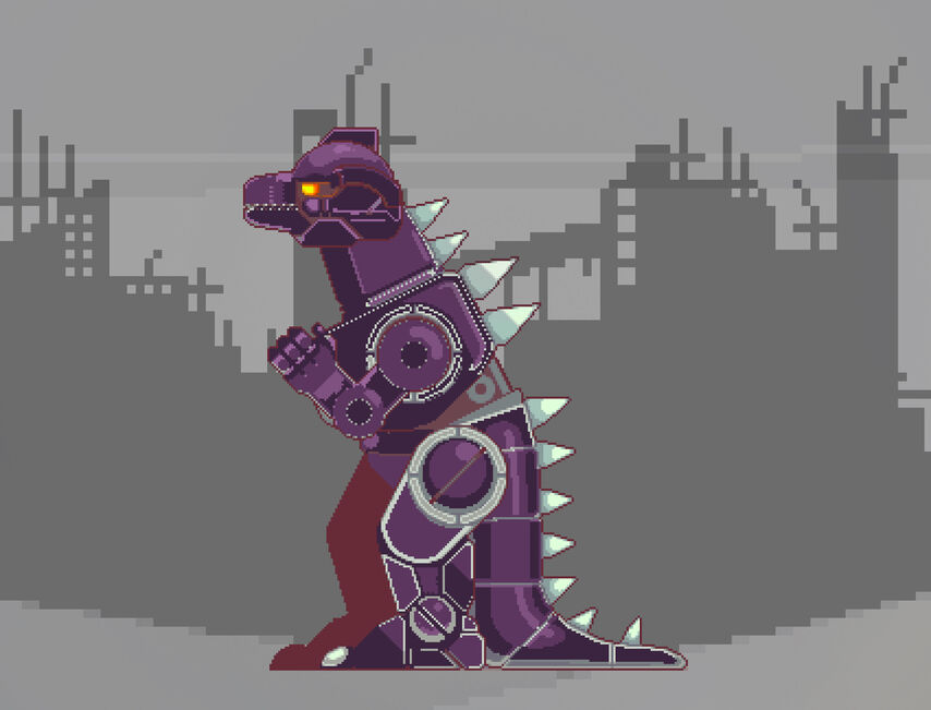 Apocalyptic rubble trouble robtic dinosaur