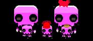 Pink skeleton's family