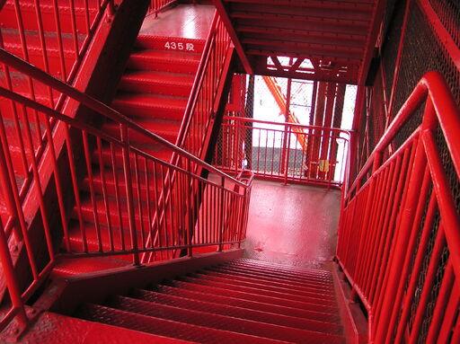 20040504 4 May 2004 Tokyo Tower stairs 1 Shibakouen Tokyo Japan
