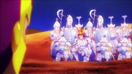 Sora placating enemy queen