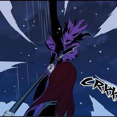 Urokai defends against berserk Frankenstein.
