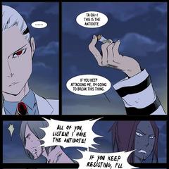 Kalvin threatens to destroy the antidote.