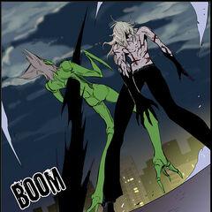 Frankenstein impales the 11th Elder with the Dark Spear.