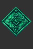 Rock Emerald Diamond Shield