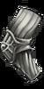 Striated Silver Armguard
