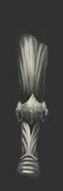 Striated Silver Leg Guard