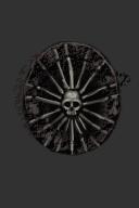 Carved Giant Skull Shield