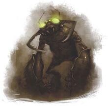 Umber hulk in darkness