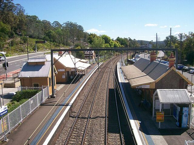 File:Ourimbah railway station view from footbridge.JPG